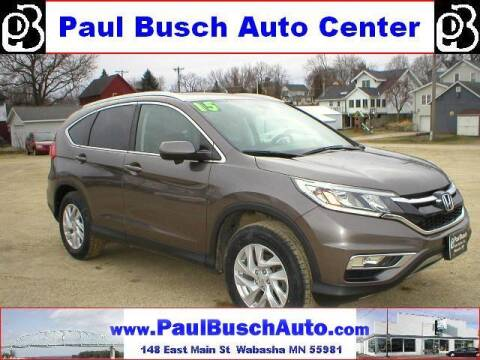 2015 Honda CR-V for sale at Paul Busch Auto Center Inc in Wabasha MN