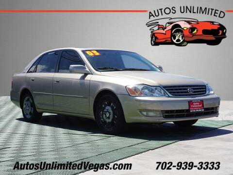 2003 Toyota Avalon for sale at Autos Unlimited in Las Vegas NV