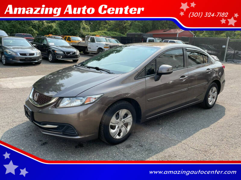 2013 Honda Civic for sale at Amazing Auto Center in Capitol Heights MD