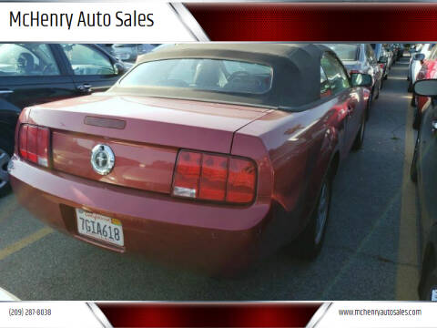 2007 Ford Mustang for sale at McHenry Auto Sales in Modesto CA