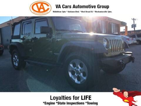 2010 Jeep Wrangler Unlimited for sale at VA Cars Inc in Richmond VA