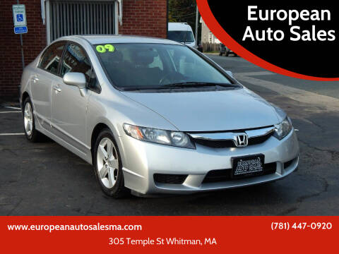 2009 Honda Civic for sale at European Auto Sales in Whitman MA