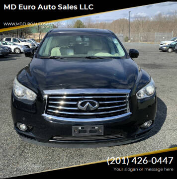 2013 Infiniti JX35 for sale at MD Euro Auto Sales LLC in Hasbrouck Heights NJ