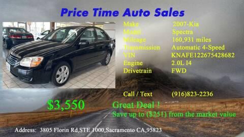 2007 Kia Spectra for sale at PRICE TIME AUTO SALES in Sacramento CA