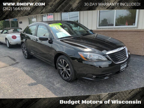 2012 Chrysler 200 for sale at Budget Motors of Wisconsin in Racine WI
