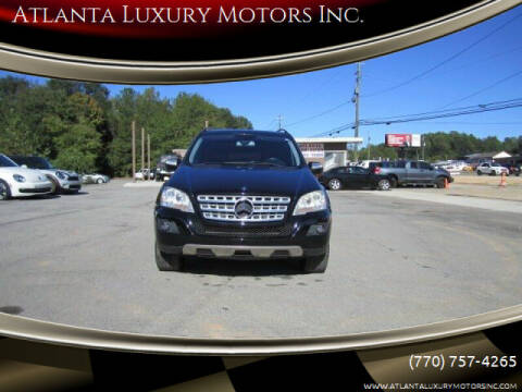 2009 Mercedes-Benz M-Class for sale at Atlanta Luxury Motors Inc. in Buford GA