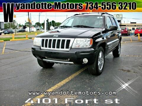 2004 Jeep Grand Cherokee for sale at Wyandotte Motors in Wyandotte MI