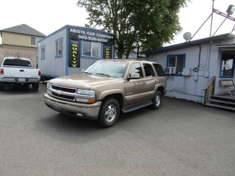 2003 Chevrolet Tahoe for sale at ARISTA CAR COMPANY LLC in Portland OR