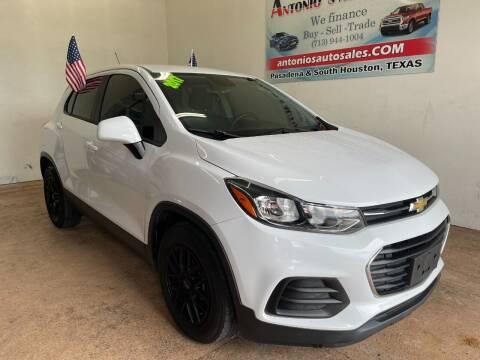 2017 Chevrolet Trax for sale at Antonio's Auto Sales - Antonio`s  2206 in Pasadena TX