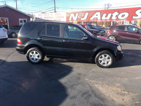 2004 Mercedes-Benz M-Class for sale at N & J Auto Sales in Warsaw IN