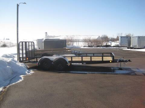 2021 pj 83 IN X 18 FT UTILITY TRAILER for sale at G T AUTO PLAZA Inc in Pearl City IL