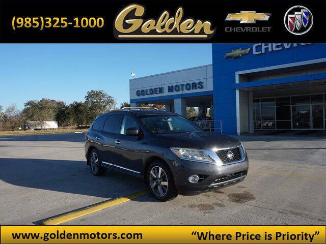 2013 Nissan Pathfinder for sale at GOLDEN MOTORS in Cut Off LA