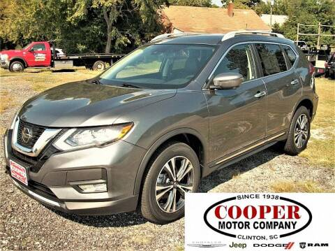 2018 Nissan Rogue for sale at Cooper Motor Company in Clinton SC