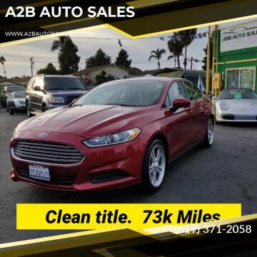 2014 Ford Fusion for sale at A2B AUTO SALES in Chula Vista CA