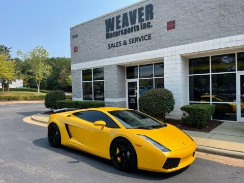 2004 Lamborghini Gallardo for sale at Weaver Motorsports Inc in Cary NC