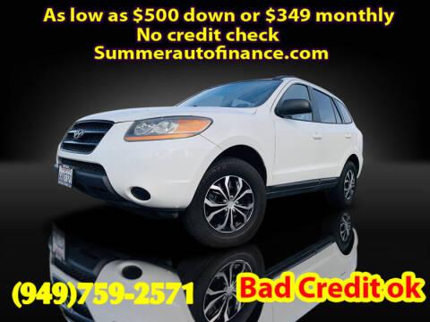 2009 Hyundai Santa Fe for sale at SUMMER AUTO FINANCE in Costa Mesa CA