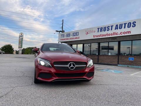 2017 Mercedes-Benz C-Class for sale at Trust Autos, LLC in Decatur GA
