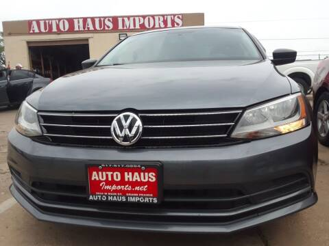 2016 Volkswagen Jetta for sale at Auto Haus Imports in Grand Prairie TX