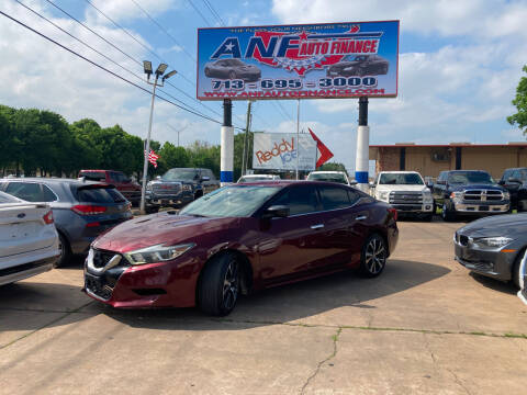 2016 Nissan Maxima for sale at ANF AUTO FINANCE in Houston TX