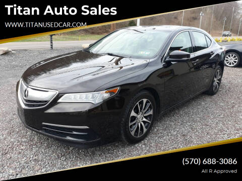 2015 Acura TLX for sale at Titan Auto Sales in Berwick PA
