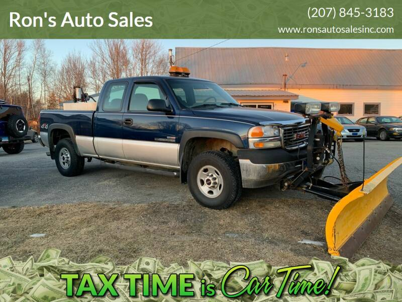 2002 GMC Sierra 2500HD for sale at Ron's Auto Sales in Washington ME