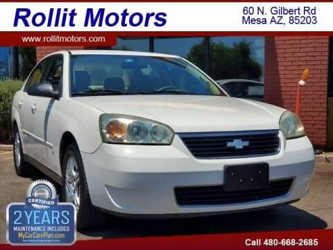 2007 Chevrolet Malibu for sale at Rollit Motors in Mesa AZ