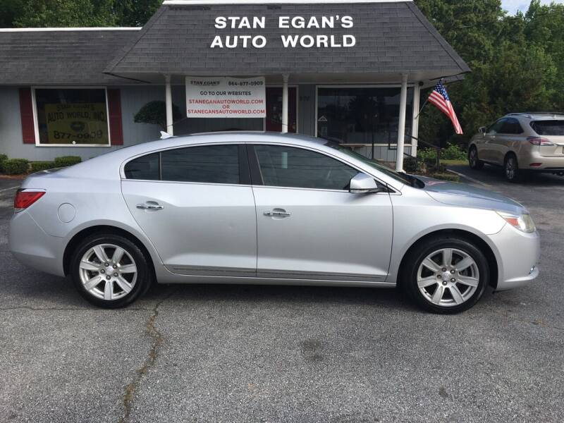 2010 Buick LaCrosse for sale at STAN EGAN'S AUTO WORLD, INC. in Greer SC