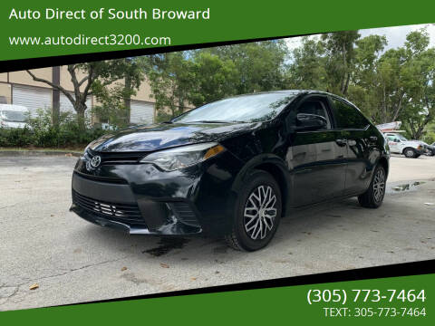 2016 Toyota Corolla for sale at Auto Direct of South Broward in Miramar FL