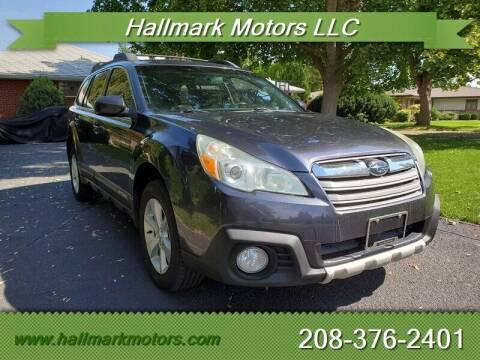 2013 Subaru Outback for sale at HALLMARK MOTORS LLC in Boise ID