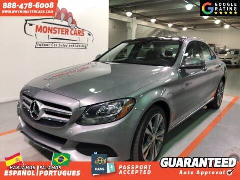 2016 Mercedes-Benz C-Class for sale at Monster Cars in Pompano Beach FL