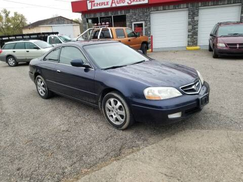 2001 Acura CL for sale at TEMPLE AUTO SALES in Zanesville OH