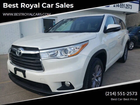 2014 Toyota Highlander for sale at Best Royal Car Sales in Dallas TX