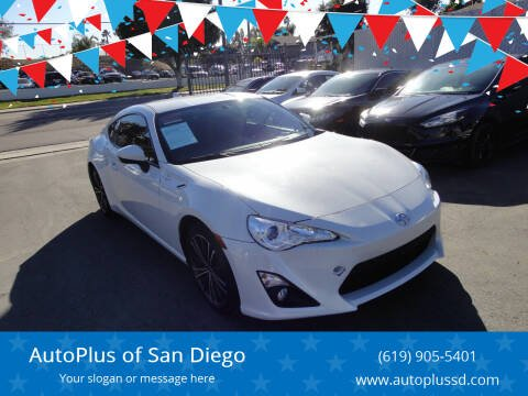 2016 Scion FR-S for sale at AutoPlus of San Diego in Spring Valley CA