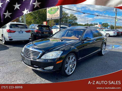 2007 Mercedes-Benz S-Class for sale at A-Z Auto Sales in Newport News VA