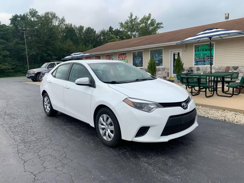 2014 Toyota Corolla for sale at FAIRWAY AUTO SALES in Washington MO