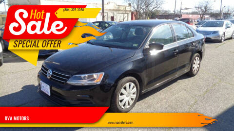 2016 Volkswagen Jetta for sale at RVA MOTORS in Richmond VA