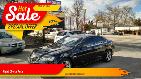 2009 Pontiac G8 for sale at Right Choice Auto in Boise ID