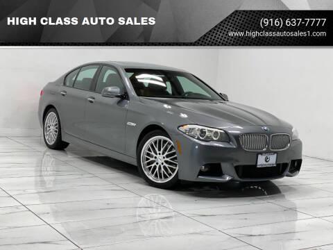 2013 BMW 5 Series for sale at HIGH CLASS AUTO SALES in Rancho Cordova CA