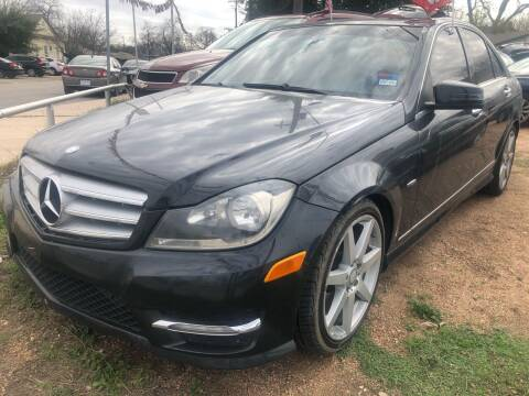2012 Mercedes-Benz C-Class for sale at S & J Auto Group in San Antonio TX
