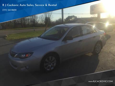2008 Subaru Impreza for sale at R J Cackovic Auto Sales, Service & Rental in Harrisburg PA