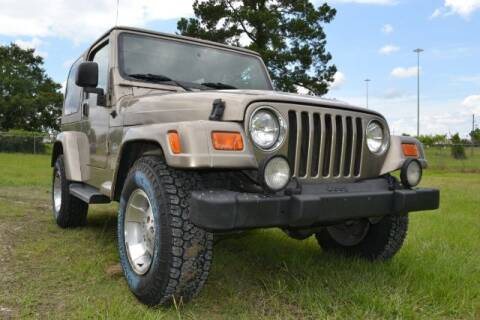 2003 Jeep Wrangler for sale at WOODLAKE MOTORS in Conroe TX