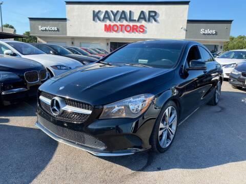2017 Mercedes-Benz CLA for sale at KAYALAR MOTORS in Houston TX