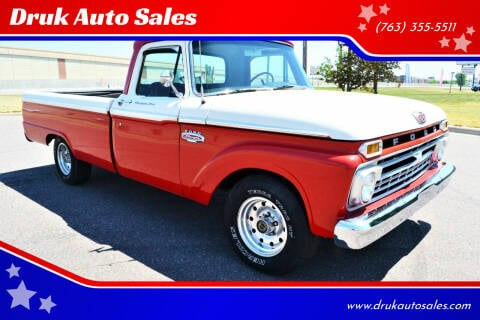 1966 Ford F-100 for sale at Druk Auto Sales in Ramsey MN