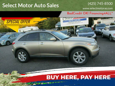 2003 Infiniti FX35 for sale at Select Motor Auto Sales in Lynnwood WA