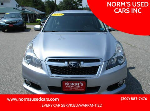 2014 Subaru Legacy for sale at NORM'S USED CARS INC in Wiscasset ME