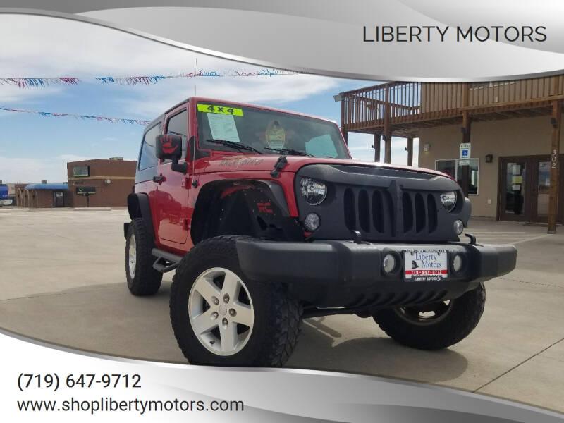 2010 Jeep Wrangler for sale at LIBERTY MOTORS in Pueblo West CO