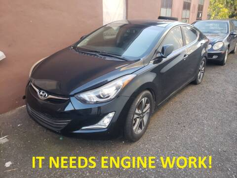 2014 Hyundai Elantra for sale at Positive Auto Sales, LLC in Hasbrouck Heights NJ