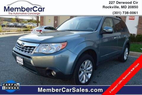 2012 Subaru Forester for sale at MemberCar in Rockville MD