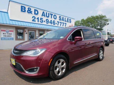 2017 Chrysler Pacifica for sale at B & D Auto Sales Inc. in Fairless Hills PA