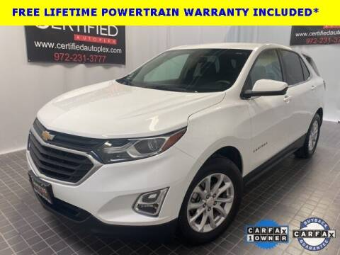 2018 Chevrolet Equinox for sale at CERTIFIED AUTOPLEX INC in Dallas TX